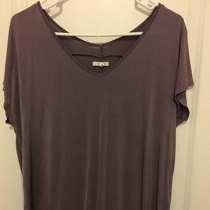Purple tee blouse